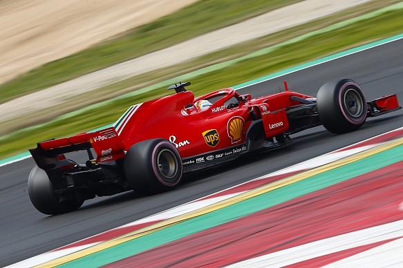 Sebastian Vettel Ferrari F1 testing 2018