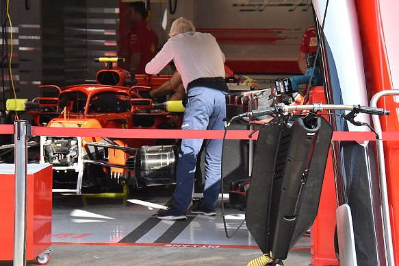 Charlie Whiting looks at Ferrari