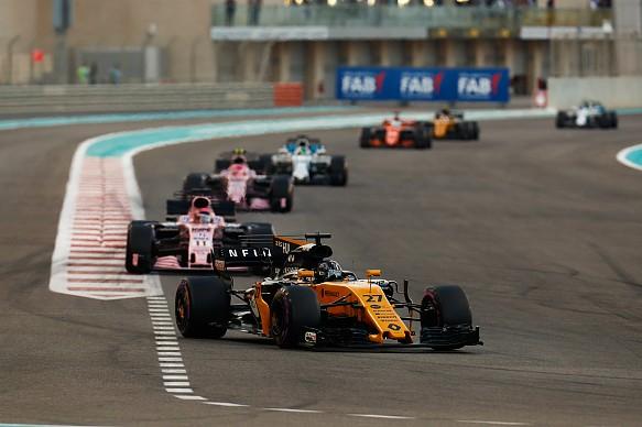 Nico Hulkenberg Renault F1 2017 Abu Dhabi