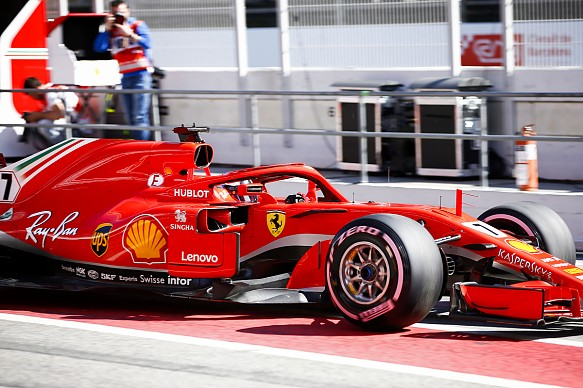 Kimi Raikkonen Ferrari Barcelona F1 testing 2018