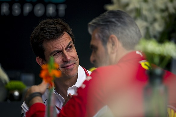 Wolff Arrivabene Mercedes Ferrari F1 2018