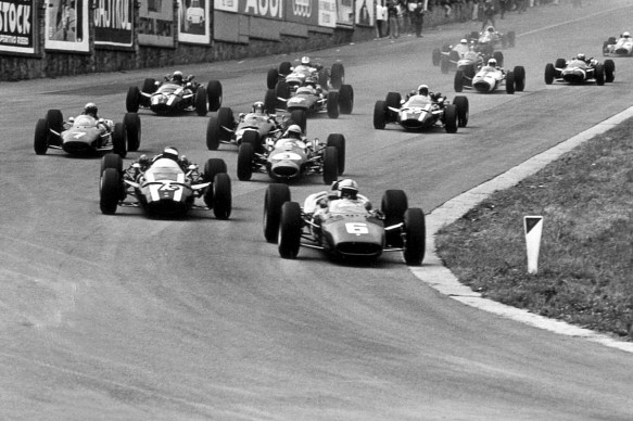 John Surtees leads 1966 Belgian GP