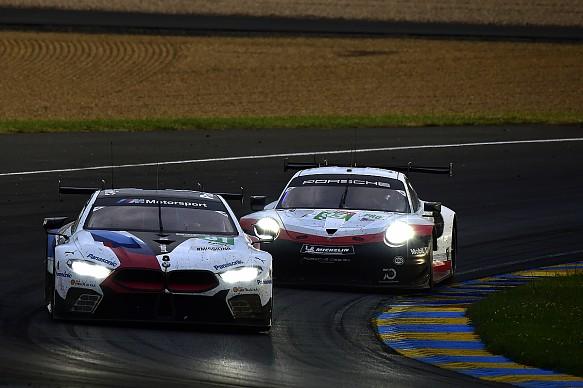 BMW M8 GTE, Porsche 911 RSR GTE Le Mans 2018