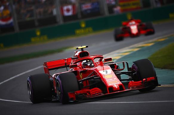 Kimi Raikkonen Sebastian Vettel 2018 Australian Grand Prix