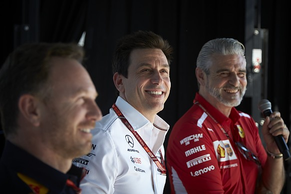 Christian Horner Toto Wolff Mauricio Arrivabene