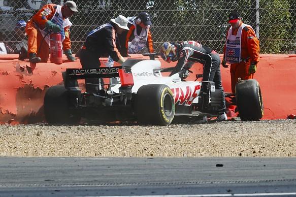 Romain Grosjean Haas British Grand Prix 2018
