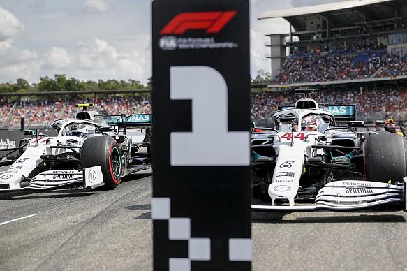Hamilton Bottas Mercedes German Grand Prix 2019