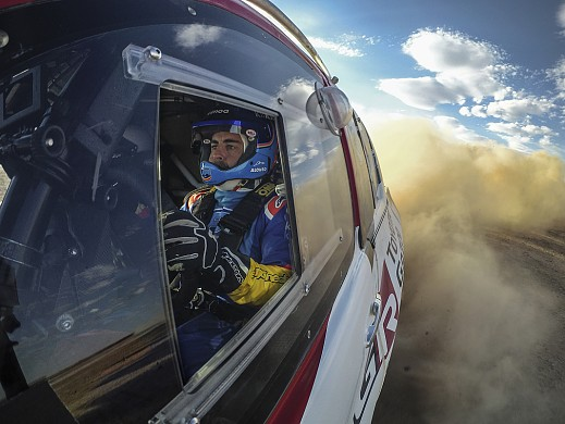 Fernando Alonso Toyota Dakar test