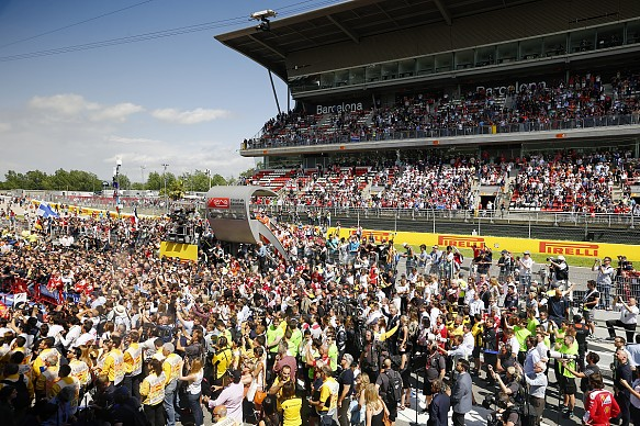 Spanish GP F1 fans