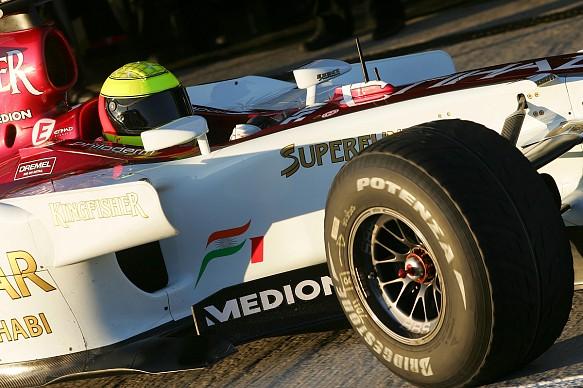 Ralf Schumacher Force India test 2007