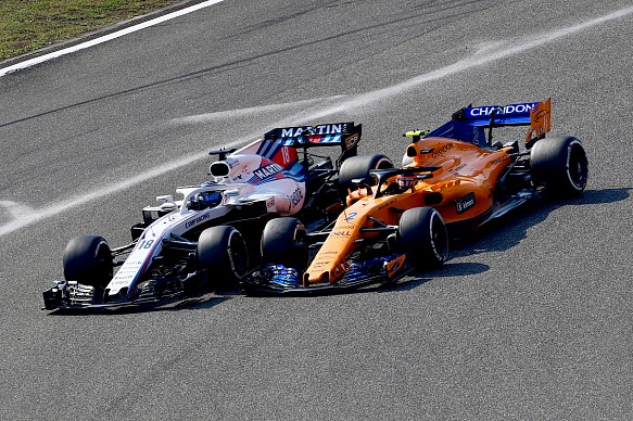 Lance Stroll and Stoffel Vandoorne Chinese GP 2018