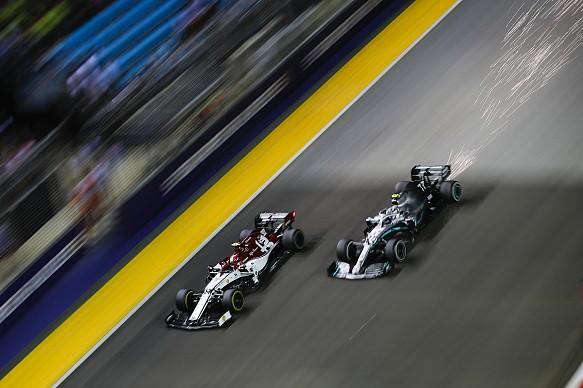 Valtteri Bottas Mercedes Singapore Grand Prix 2019