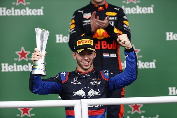 Pierre Gasly Brazilian GP podium 2019