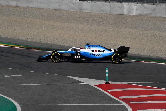Robert Kubica Williams spin Barcelona F1 testing 2019