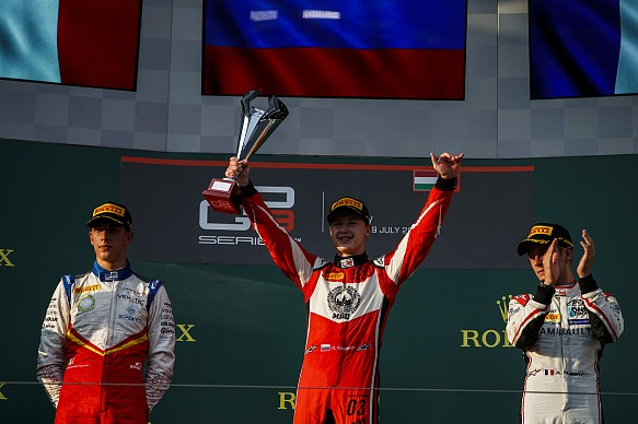 Nikita Mazepin wins Hungaroring GP3 2018