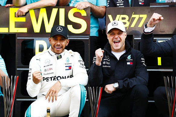 Hamilton Bottas Mercedes F1 2018