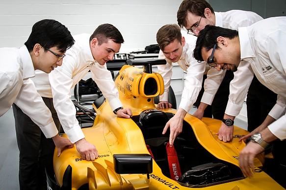 Infiniti Engineering Academy students
