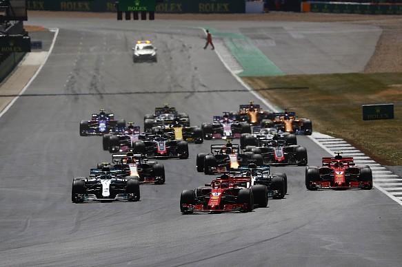 British GP F1 start 2018