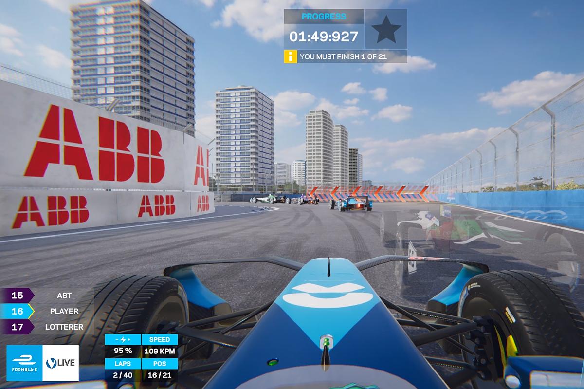Formula E ghost racing app work in progress screenshot
